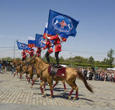 Cavalry show in Moscow — Stock Photo