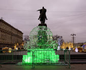 Moscow, ice clock — Stock Photo
