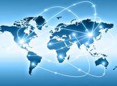 лучший интернет концепции глобального бизнеса от концепции серии. карта мира — Стоковое фото