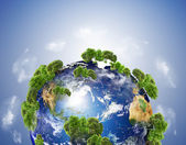 Tierra con los diferentes elementos en su superficie. — Foto de Stock