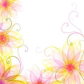 Colored floral background — Stock Photo