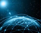 グローバル ビジネス概念シリーズからの最高のインターネットの概念 — ストック写真