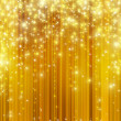 Stock Photo: Stars descending on golden background