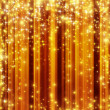 Royalty-Free Stock Photo: Stars descending on golden background
