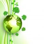 Environmental energy concept card — Stock Photo