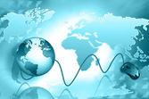 Internet zakelijke communicatie — Stockfoto