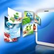Best Internet Concept of global business from concepts series. Touchpad or Tablet PC — Stock Photo