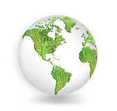 Earth with continents covered with grass — Stock Photo