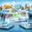 Best Internet Concept of global business — Stockfoto