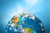 Planet earth. Best Concept of global business from concepts series. — Stock Photo