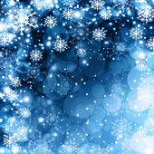 Snowflakes and stars descending on background — Stock Photo