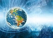 Best Internet Concept of global business — Stock Photo