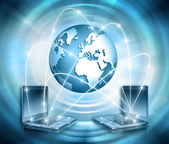 Internet Concept of global business — Stock Photo