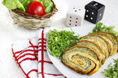 Appetizer plate with vegetable roulade — Stock Photo
