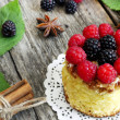 Sweet cake with forest fruits — Stock Photo #31602045