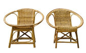 Rattan chairs — Stock Photo