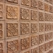 Stock Photo: Thai design of brown wall