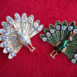Couple of decorations peacock shape — Stock Photo