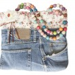 Stock Photo: Blue jeans women bag