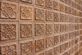 Thai design of brown wall — Stock Photo