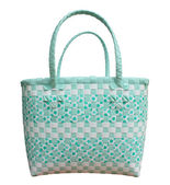 Plastic weave basket — Stock Photo