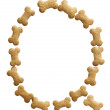Bone Shape Dog food Letter Q — Stock Photo