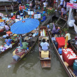 AMPHAWA FLOATING MARKET - Stock Photo
