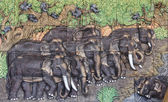 Elephant sculptures — Stock Photo