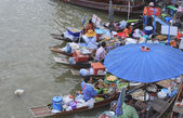 AMPHAWA FLOATING MARKET — Stock Photo