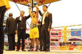 Winner fight PABA Super Flyweight Champion — Stock Photo