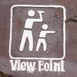 Stock Photo: View point sign