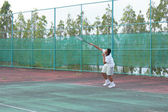 Serving a Tennis Ball — Stock Photo
