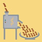 Money machine — Stock Vector