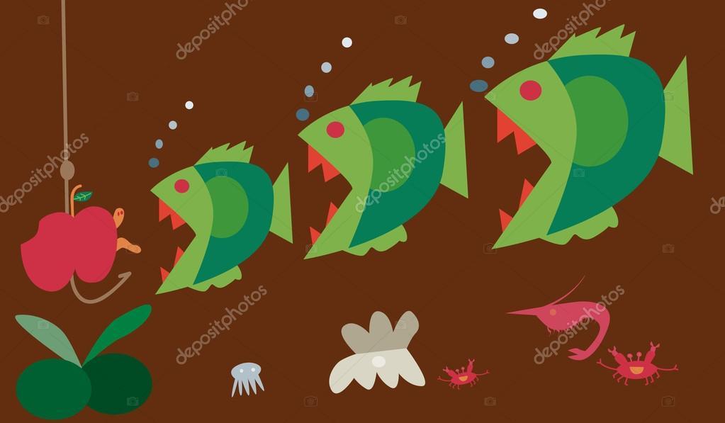 Big fish eat little fish stock vector olovedog1 40942469 for Big fish script