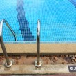 Stock Photo: Swimming pool depth marker