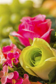Rose artificial flowers — Stock Photo