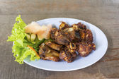Fried Fermented Spare Ribs — Stock Photo