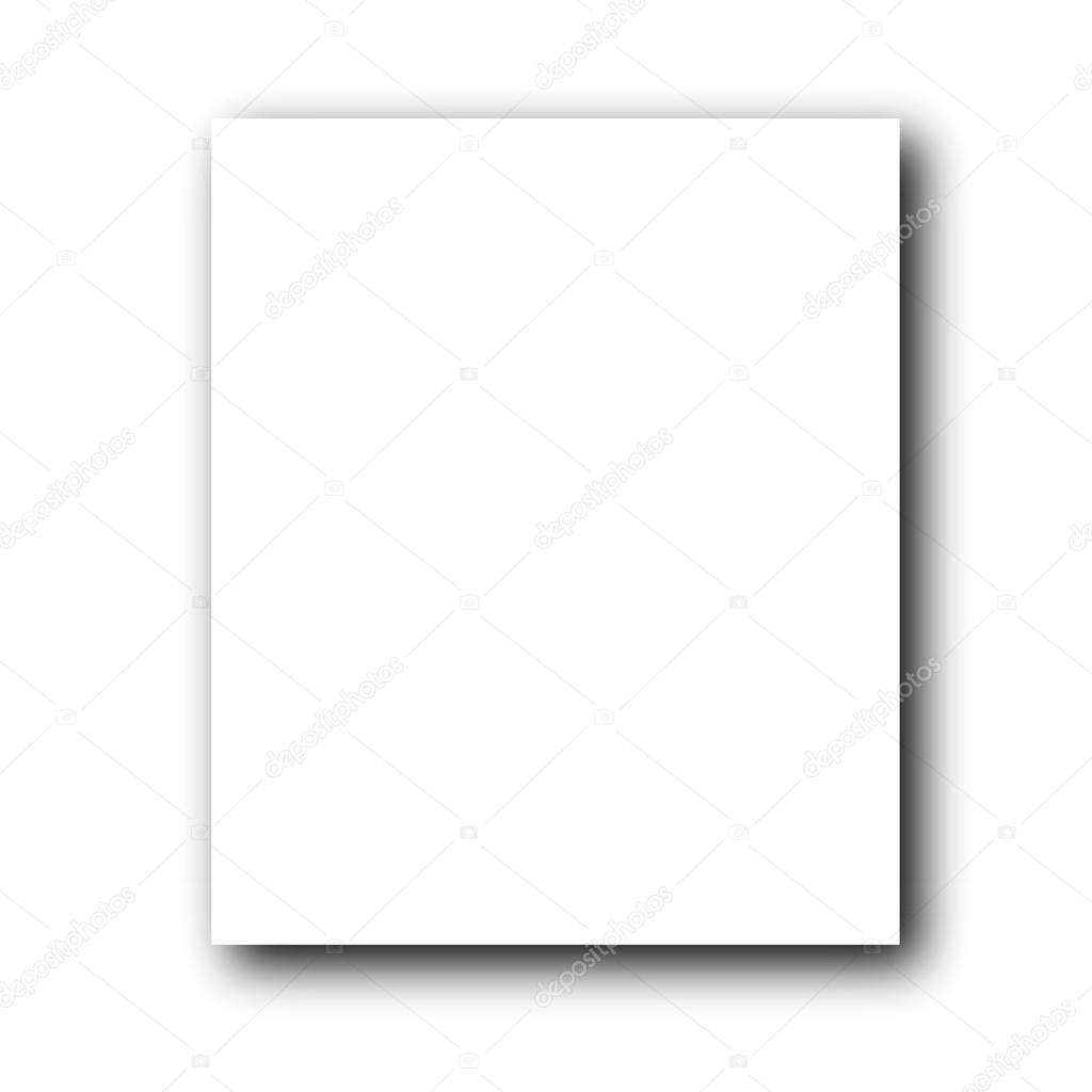 Empty photo frame isolated on white background — Stock Photo #12068588