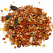 Pile of seed mixture for bird. Complete food for Lovebirds — Stock Photo