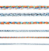 Colorful various ropes isolated on white background, collection — Stock Photo