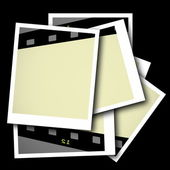 Film strip frame isolated on black background — Stock Photo
