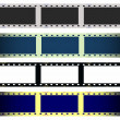 Set 35 mm film strip isolated on white background, texture — Stock Photo