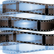 Blue film roll background — Stock Photo #13656476