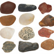 Collection Rocks isolated on white background — Stock Photo #13775840