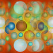 Colorful circles background, texture — Stock Photo