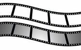 Set blank film strip background — Stock Photo