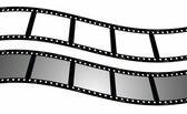 Set blank film strip background — Stock Photo