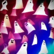 Royalty-Free Stock Photo: Translucent ghosts, halloween background illustration