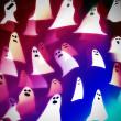 Translucent ghosts, halloween background illustration — Stock Photo