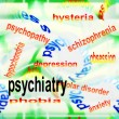 Stock Photo: Concept psychiatry background